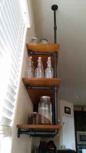 Kitchen Shelves Side View