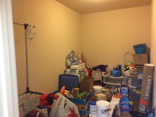 Storage Closet Before