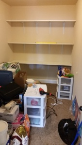 Storage Shelves Back Wall