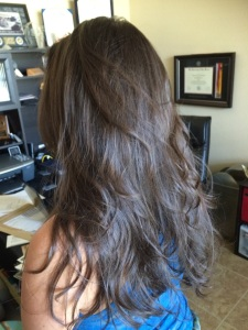 V Haircut After